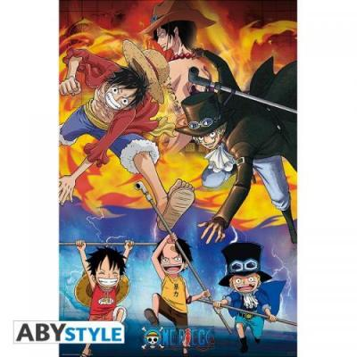 One piece ace sabo luffy poster 91x61