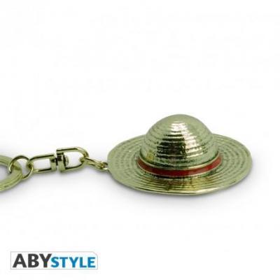 One piece chapeau de luffy porte cles 3d