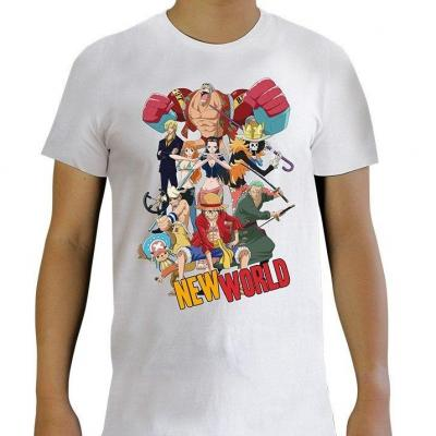 One piece new world t shirt homme