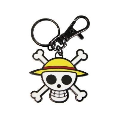 One piece porte cles metal skull luffy