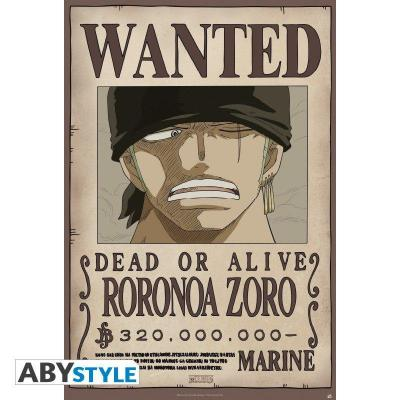 One piece poster 91x61 wanted zoro