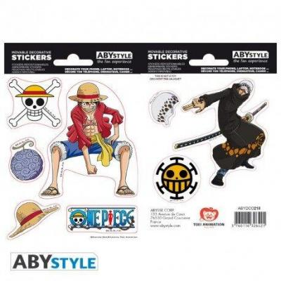 One piece stickers 16x11cm 2 planches luffy law