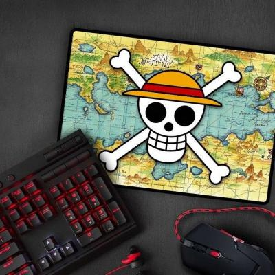 One piece tapis de souris gaming 35x25 skull with map