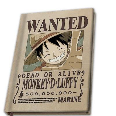 One piece wanted luffy notebook a5