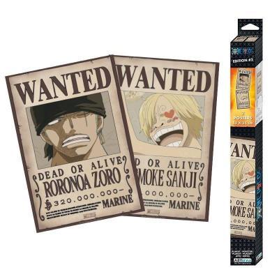 One piece wanted zoro sanji set de 2 posters 52x38
