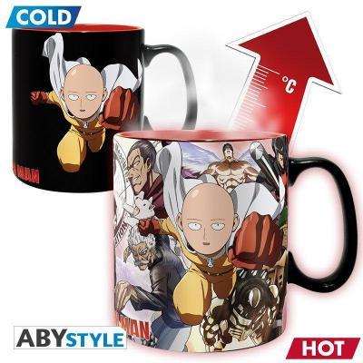 One punch man heros mug thermoreactif 460 ml