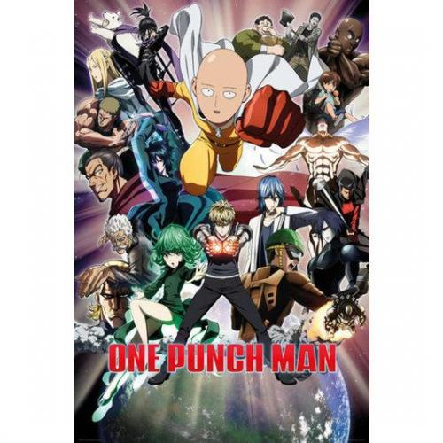 One punch man poster 61x91 collage