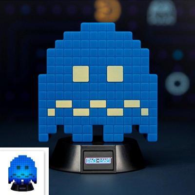 Pac man mini lampe fantome bleu 10cm