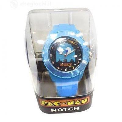 Pac man montre analogique bleu