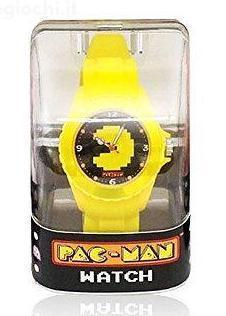 Pac man montre analogique jaune
