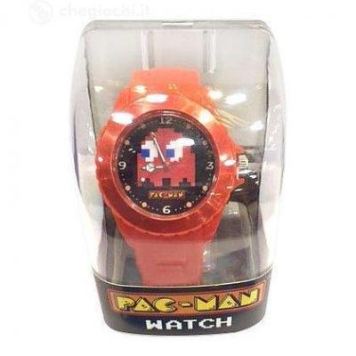 Pac man montre analogique rouge