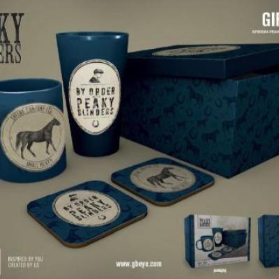 Peaky blinders gift box chope mug 2 dessous de verre by order