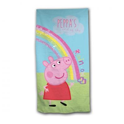 Peppa pig serviette de plage en polyester 70 x 140 cm