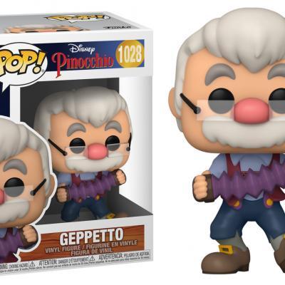 Pinocchio bobble head pop n 1028 geppeto w accrdion
