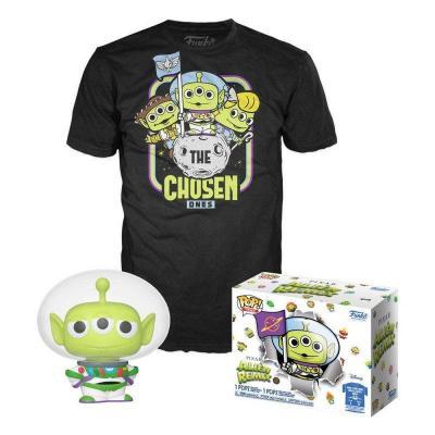 Pixar booble head pop n 749 alien remix as buzz t shirt