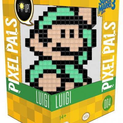 Pixel pals light up collectible figures nintendo luigi