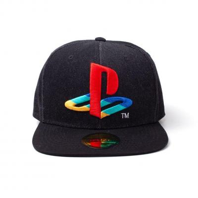 Playstation casquette snapback logo denim