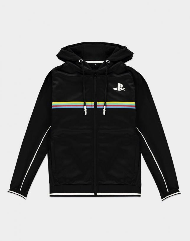 Playstation color stripe hoodie homme