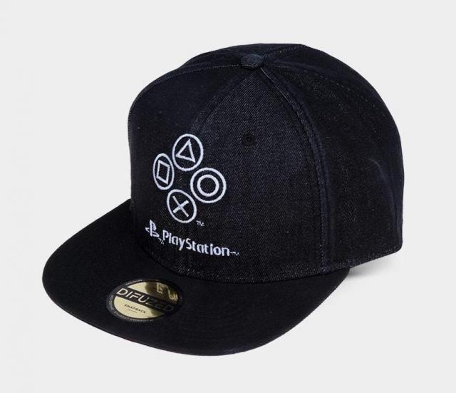 Playstation denim symbols casquette