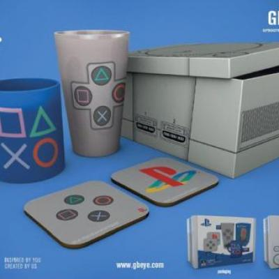 Playstation gift box chope mug 2 dessous de verre classic