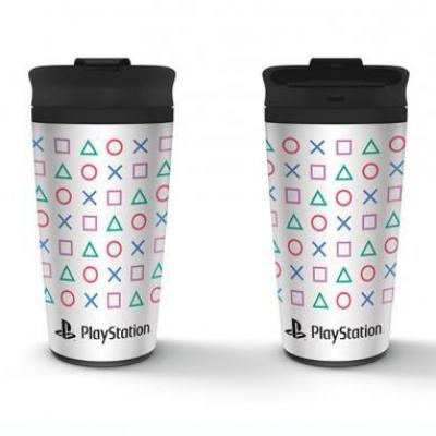 Playstation shapes mug de voyage en metal 450ml