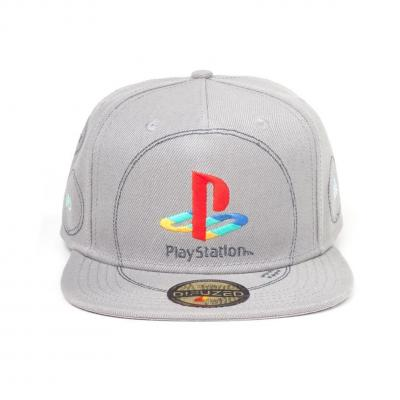 Playstation silver logo casquette snapback