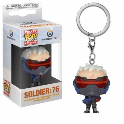 Pocket pop keychains overwatch soldier 76