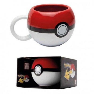 Pokemon 3d mug 400 ml pokeball