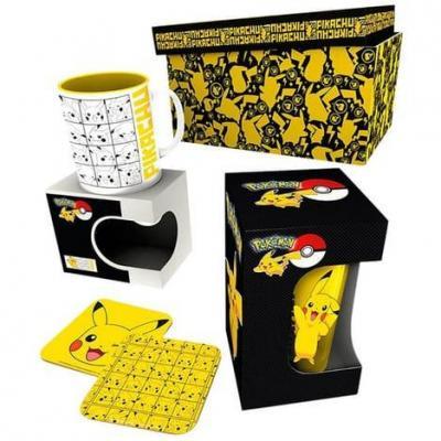 Pokemon gift box chope mug 2 dessous de verre pikachu 1