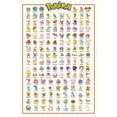 Pokemon kanto151 poster 61x91 5cm