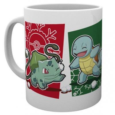 Pokemon mug 300 ml snowball starters christmas