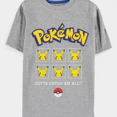 Pokemon pika expressions t shirt garcon