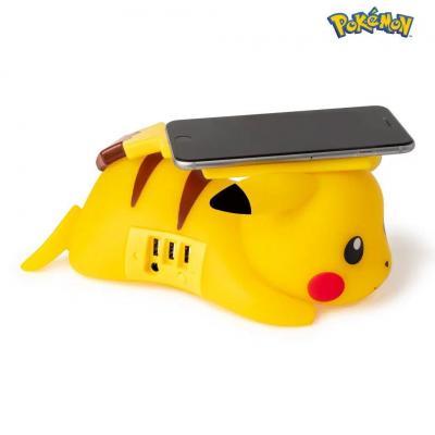 Pokemon pikachu chargeur sans fil usb