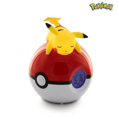 Pokemon pikachu pokeball reveil avec lampe led