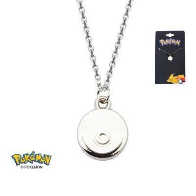 Pokemon pokeball steel collier