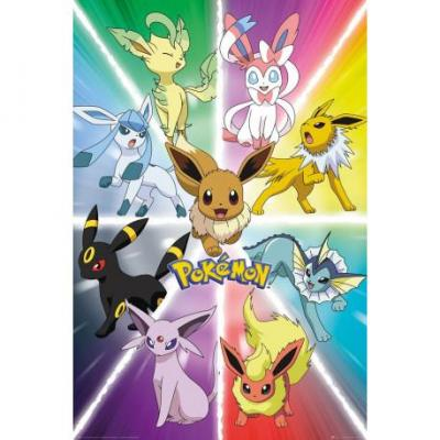 Pokemon poster 61x91 eevee evolution