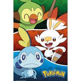 Pokemon poster 61x91 galar starters