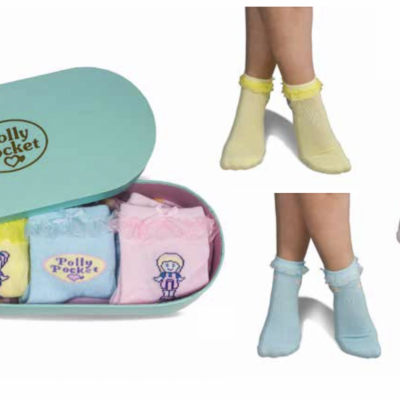Polly pocket tin box pack 3 chaussettes 35 39