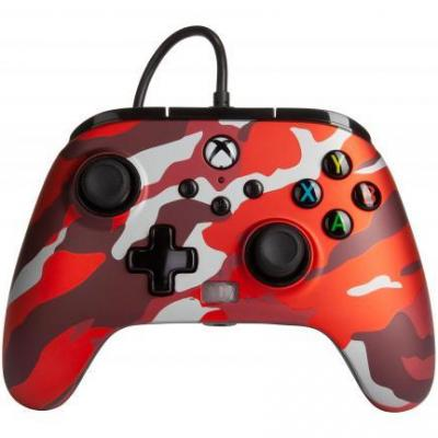 Power a wired controller enhanced camo red xbox series x