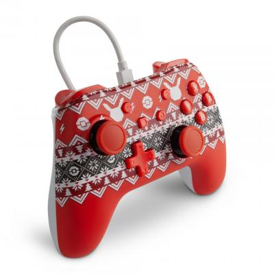 Power a wired controller pokemon holiday design for nintendo switch
