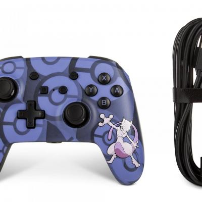 Power a wired controller pokemon mewtwo for nintendo switch
