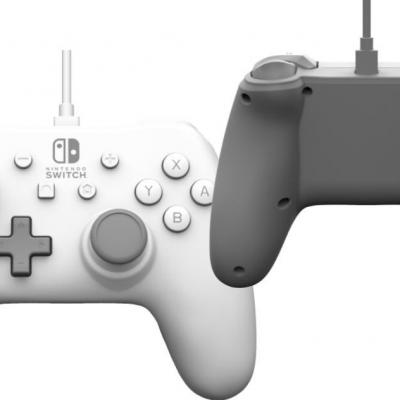 Power a wired controller white for nintendo switch