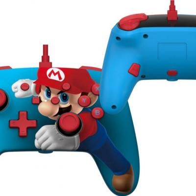 Power a wired enhanced controller mario punch for nintendo switch
