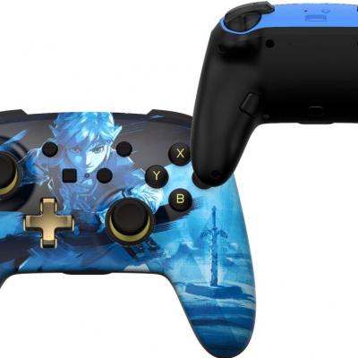 Power a wireless enhanced controller link blue for nintendo switch