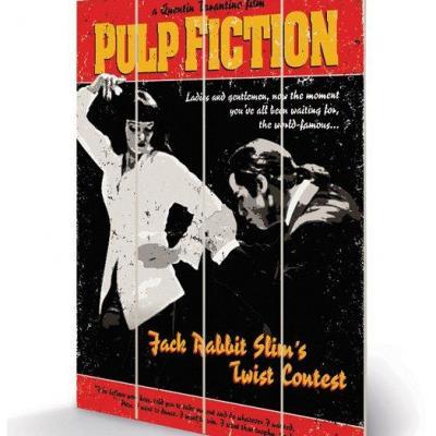 Pulp fiction twist contest impression sur bois 40x59cm