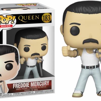 Queen bobble head pop n 183 freddy mercury radio gaga 1985
