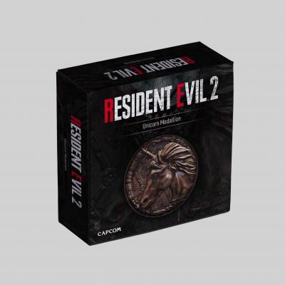 Resident evil licorne replique medaillon