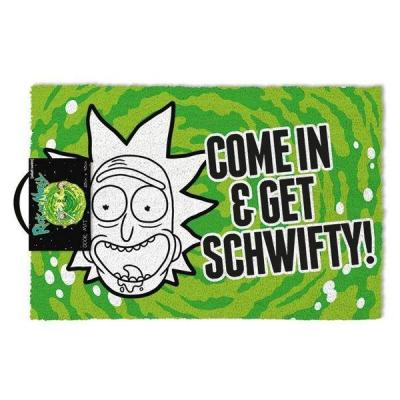 Rick and morty paillasson 40x60 get schwifty 1