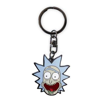 Rick and morty porte cles metal rick