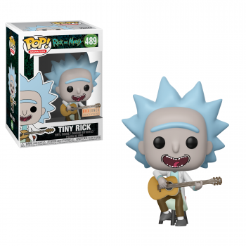 Rick morty bobble head pop n 489 tiny rick with guitar